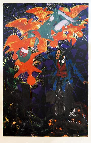 横尾忠則版画「予兆の刻 V」/Tadanori Yokoo