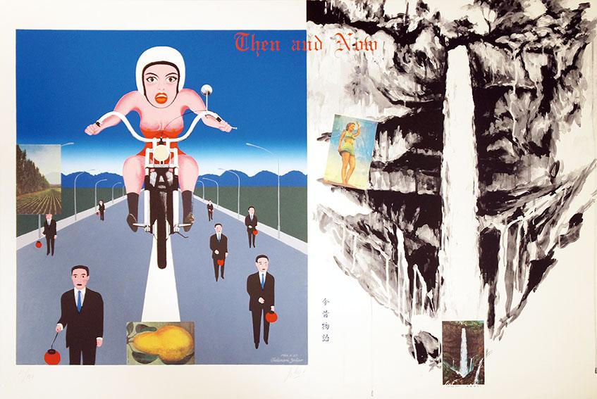 横尾忠則版画「今昔物語 オートバイ」/Tadanori Yokoo