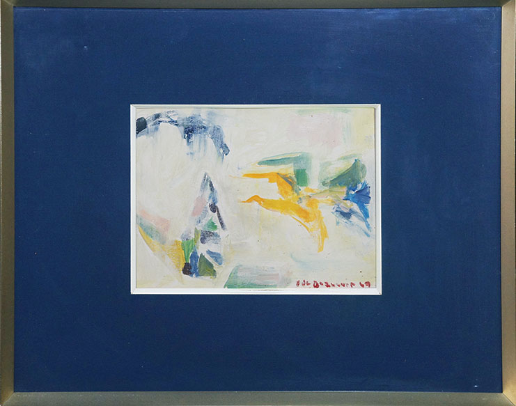 エレーヌ・ド・ボーヴォワール画額「カモメの飛翔」/Helene de Beauvoir