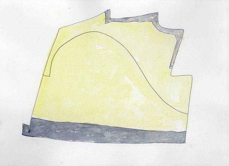 杢田たけを画「86 L-4」/Takeo Mokuta