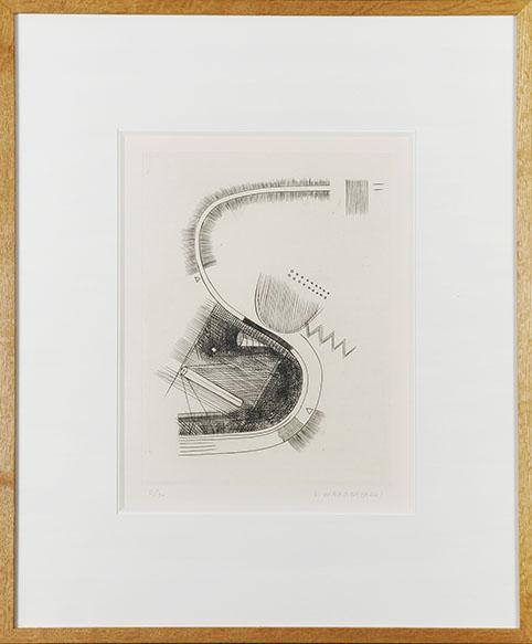 若林奮版画額「S字Ⅱ」/Isamu Wakabayashi