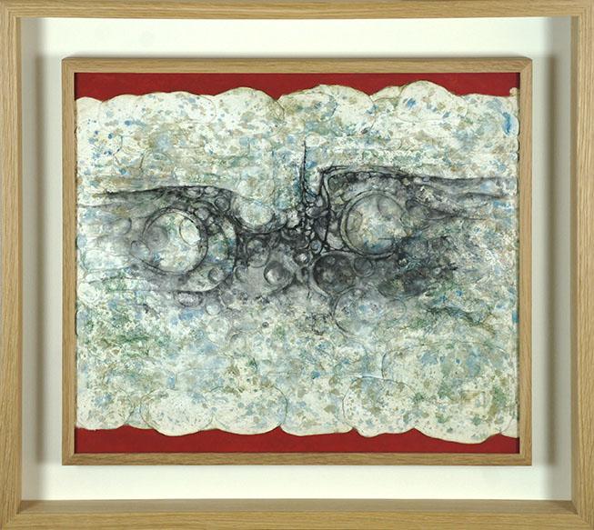 下村良之介画額「島壁」/Ryonosuke Shimomura