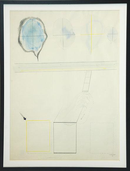 荒川修作画額「Work」/Shusaku Arakawa