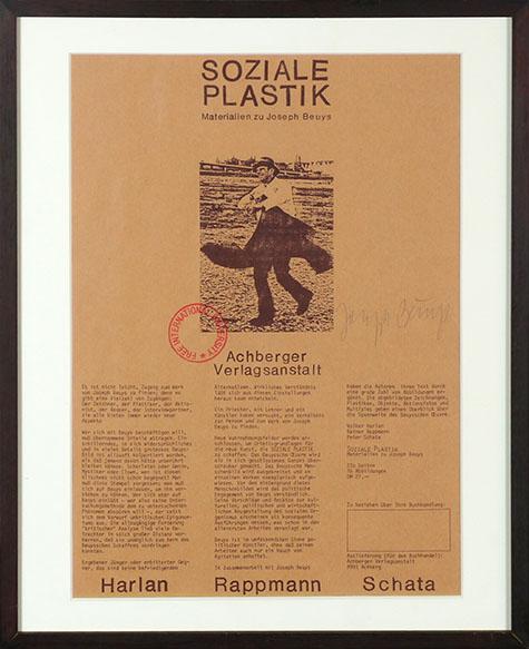 ヨーゼフ・ボイス ポスター額「Soziale Plastik」/Joseph Beuys