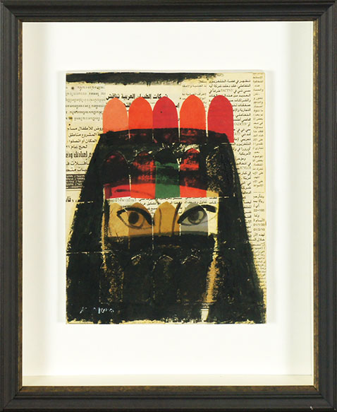 武良恭子画額「モロッコの女」/Kyoko Mura