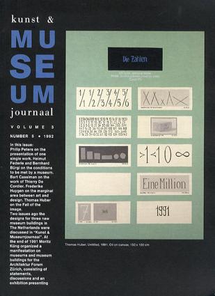 Kunst & Museum Journaal: Vol.3 No.5 1992/