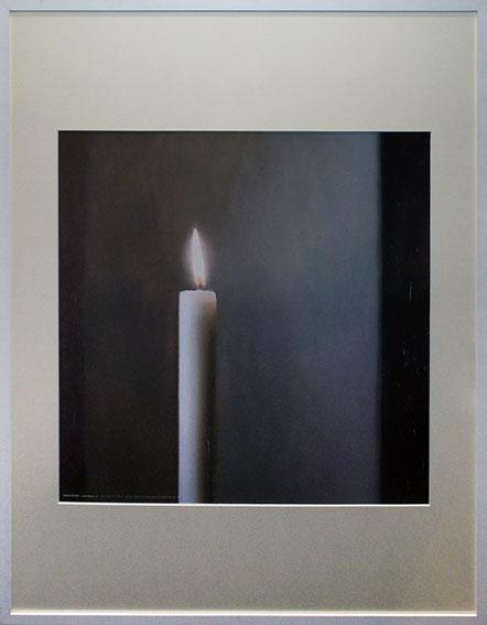 ゲルハルト・リヒター ポスター額「Candle」/Gerhard Richter