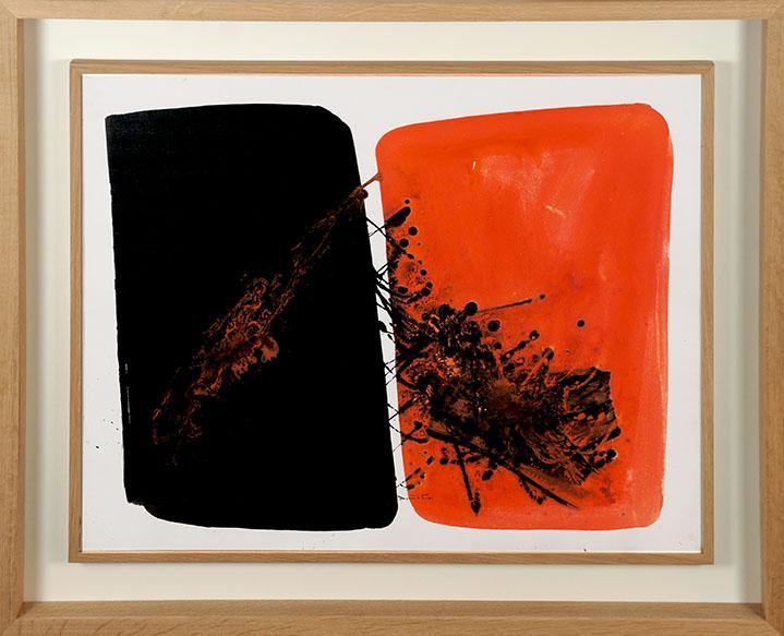 堂本尚郎画額「Ensembles Binaires」/Hisao Domoto