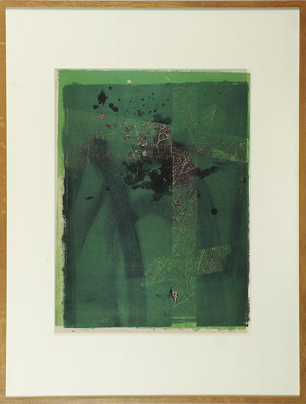 白木正一版画額「抽象」/Shouichi Shiraki