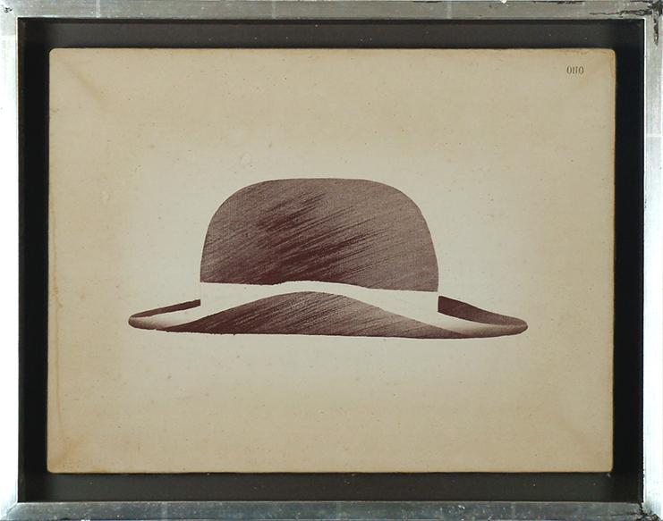 小野隆生画額「ダンディのかぶる帽子と訳されてしまった」/Takao Ono