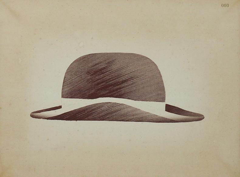 小野隆生画額「ダンディのかぶる帽子と訳されてしまった」「ダンディのかぶる帽子と訳されてしまった」/小野隆生