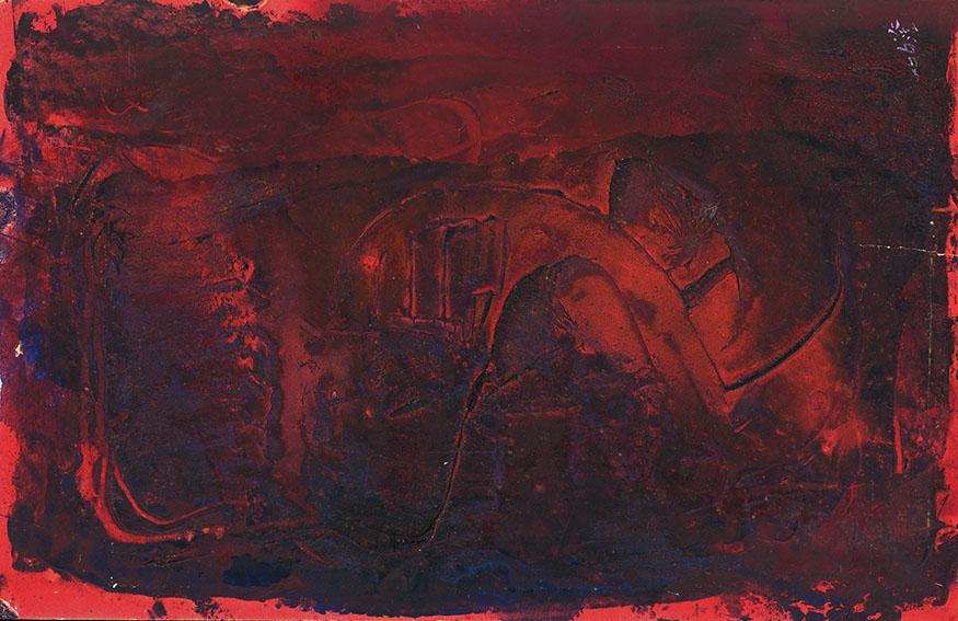 森島澄子作品「赤い凡景」/Sumiko Morishima