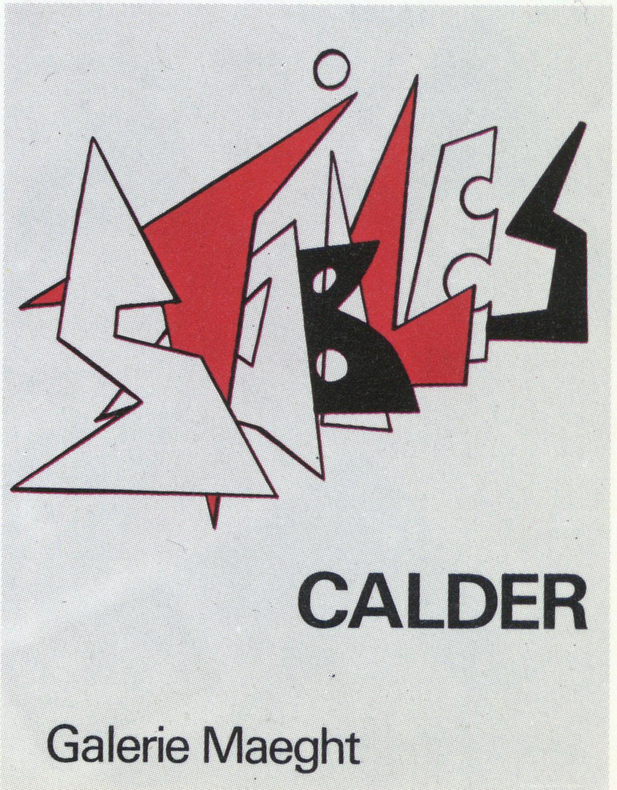 アレクサンダー・カルダー ポスター「Stabiles」 /Alexander Calder
