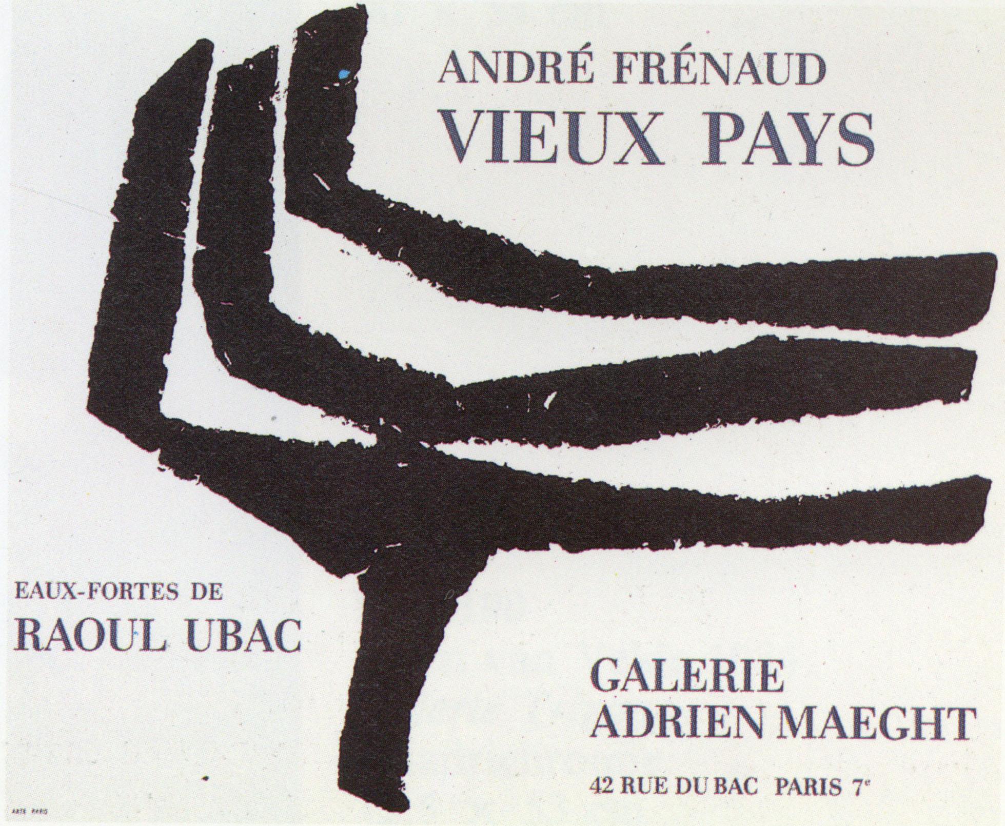 ラウル・ユバック ポスター「Vieux Pays」 /Raoul ubac