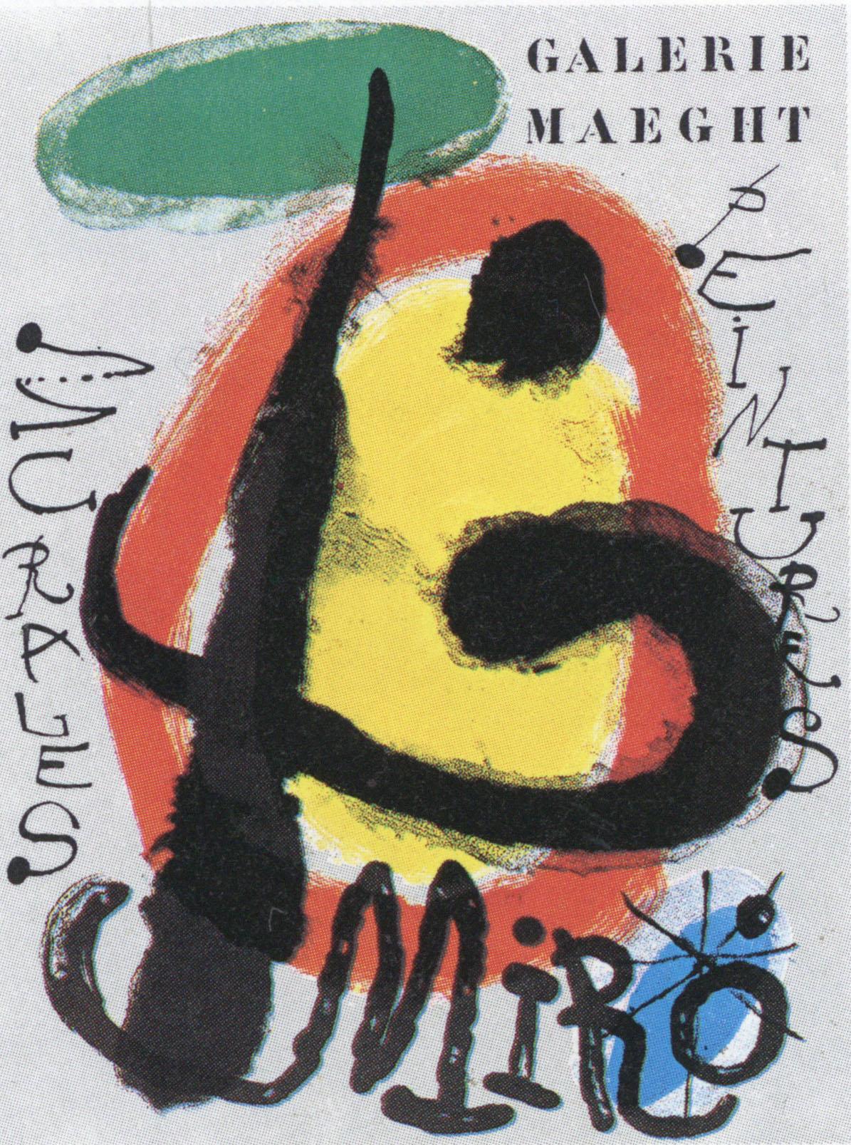 ジョアン・ミロ ポスター「Peintures murales」 /Joan Miro