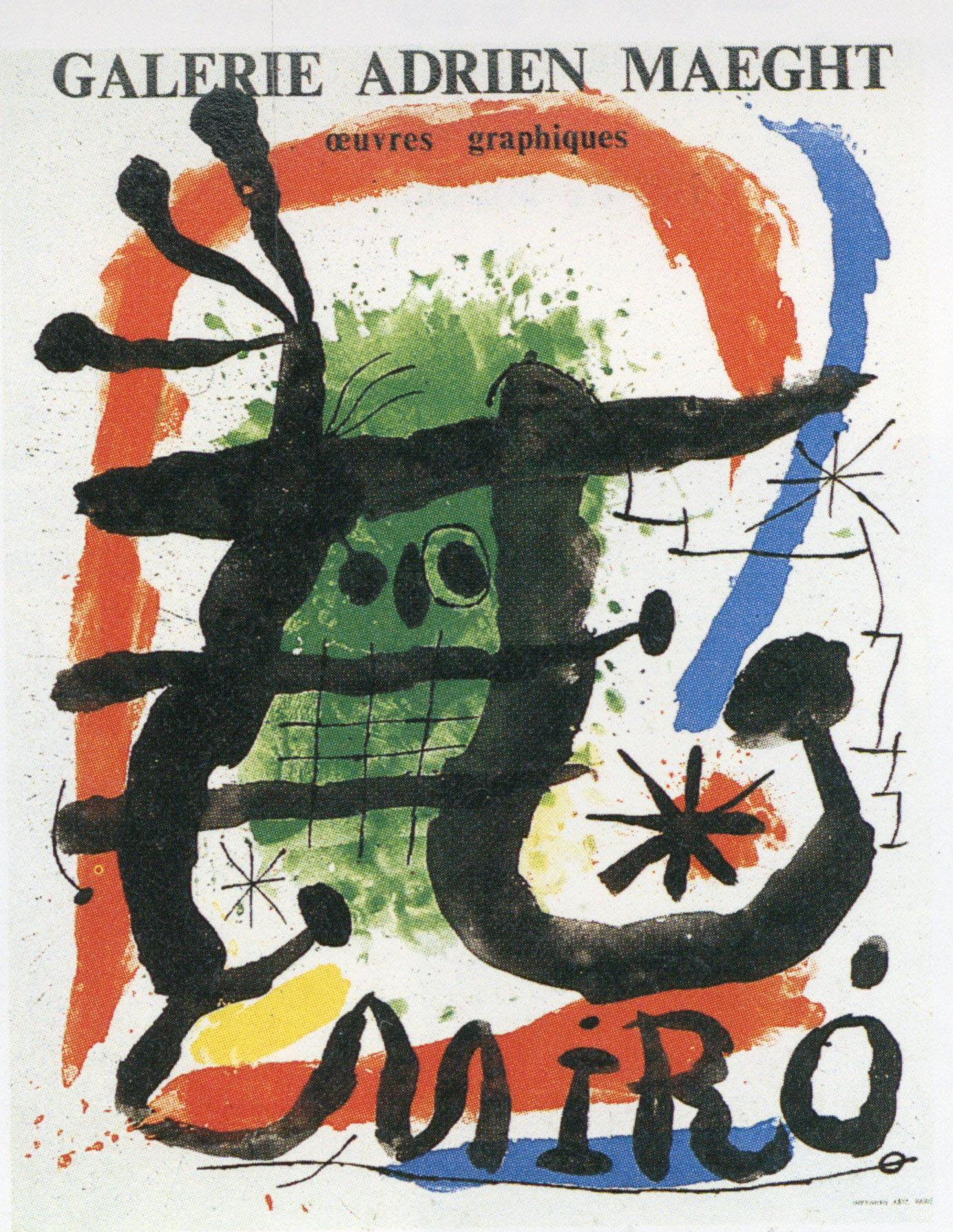 ジョアン・ミロ ポスター「Oeuvres graphiques」 /Joan Miro