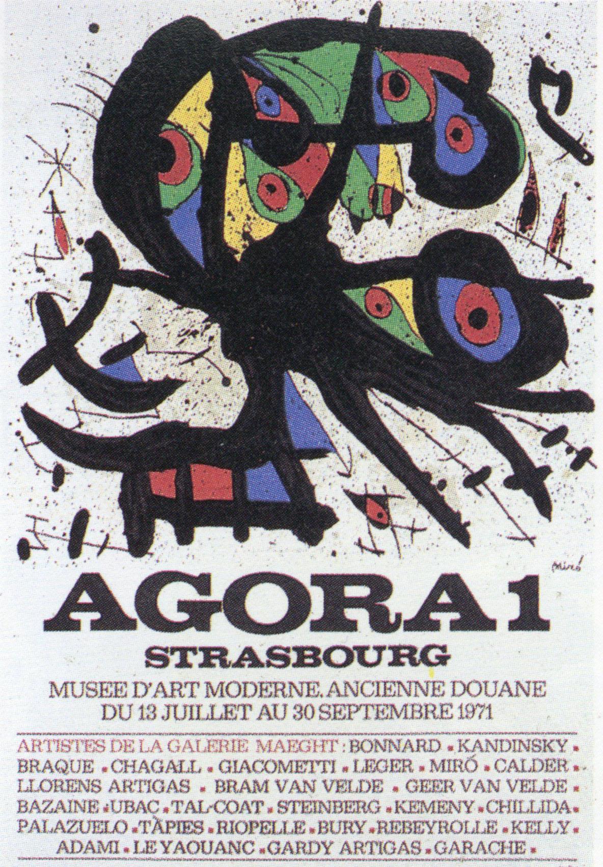 ジョアン・ミロ ポスター「Agora 1」 /Joan Miro