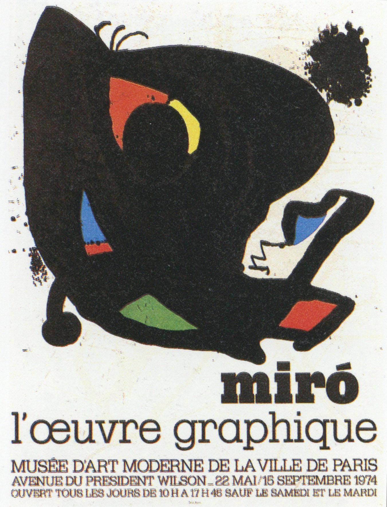 ジョアン・ミロ ポスター「Musee d'Art Moderne」 /Joan Miro