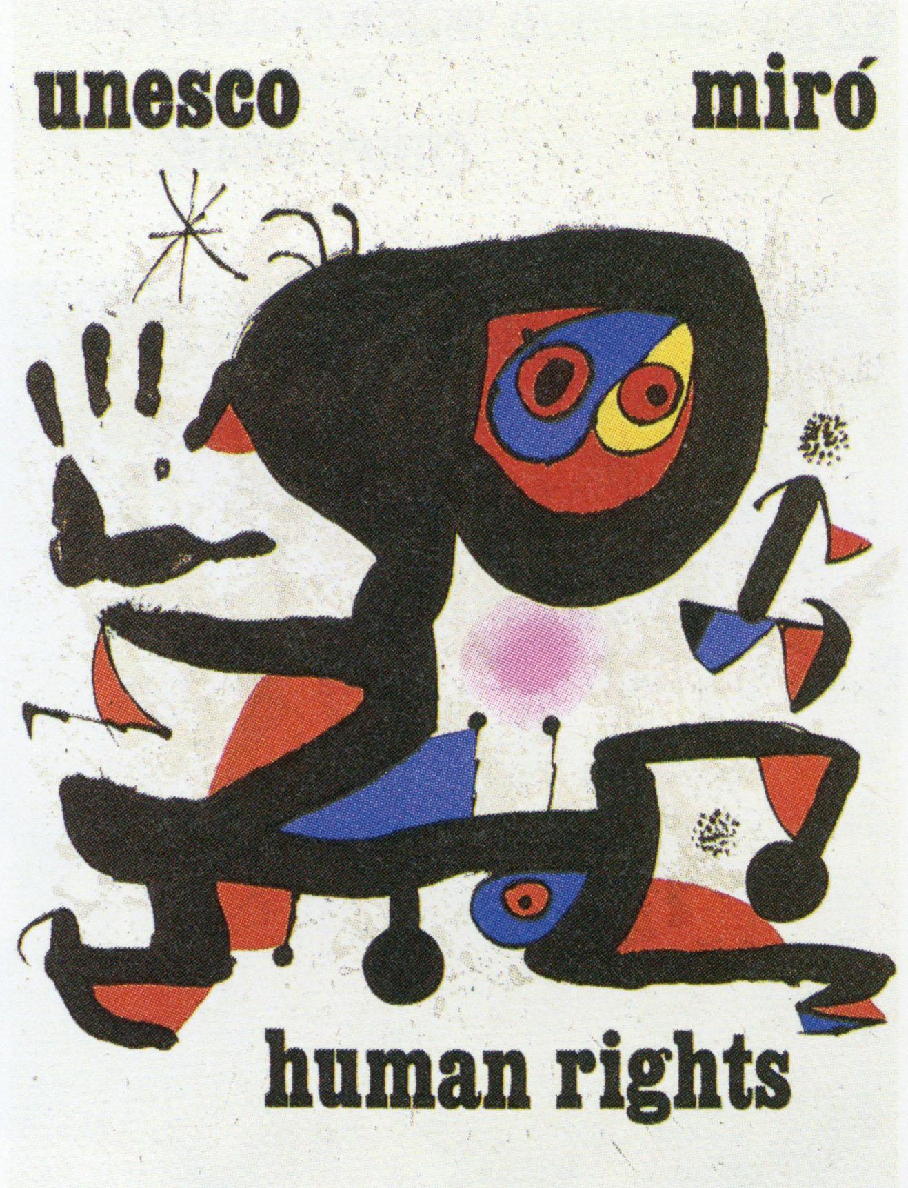 ジョアン・ミロ ポスター「Unesco-Human rights」 /Joan Miro