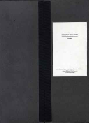 ボルタンスキーの本 Christian Boltanski: Livres/クリスチャン・ボルタンスキー