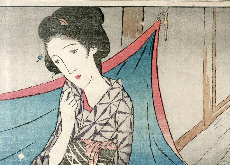 竹久夢二版画「お光の亡霊」/Yumeji Takenisa