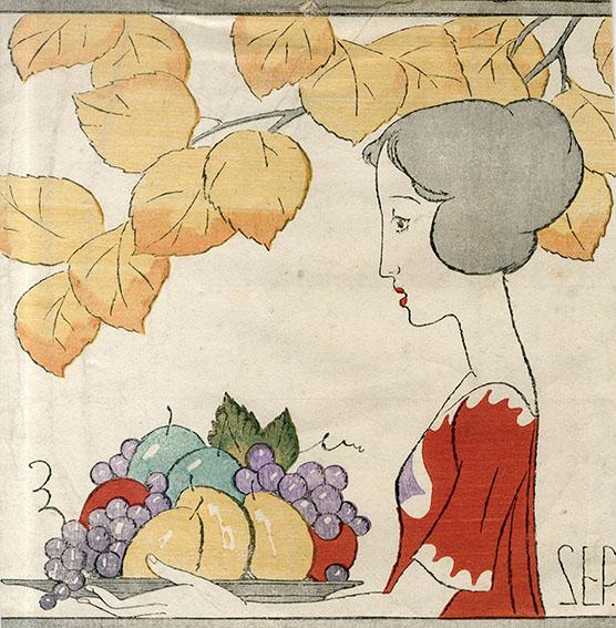 竹久夢二版画「秋」/Yumeji Takenisa