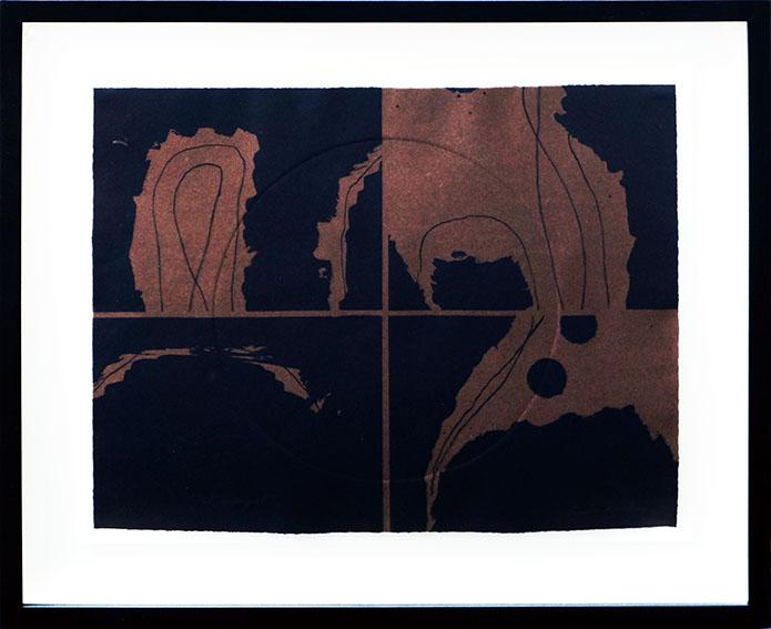 ルイーズ・ネヴェルソン版画額「Dusk In August,From Portfolio Of Nine」/Louise Nevelson