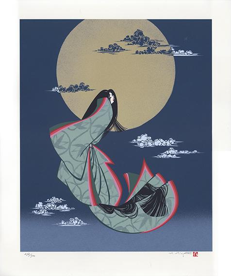宮田雅之版画「No.4 かぐや姫の昇天」/Masayuki Miyata