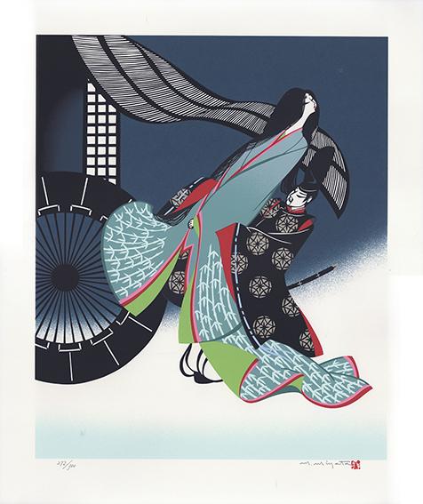 宮田雅之版画「No.2 帝の求婚」/Masayuki Miyata