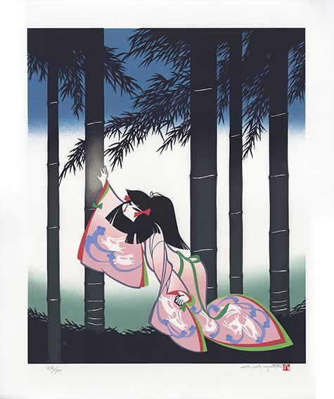 宮田雅之版画「No.1 幼いかぐや姫」/Masayuki Miyata