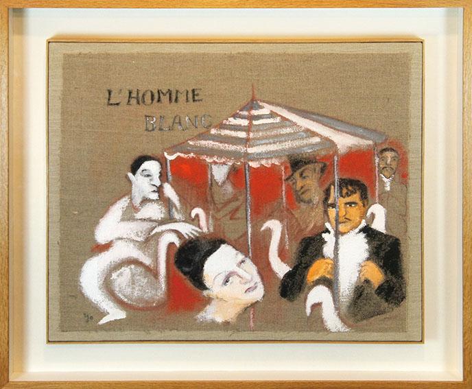 山本容子画額「天井桟敷の人々-4」/Yoko Yamamoto