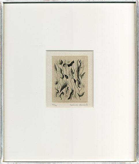 難波田龍起版画額「春のおとずれ」/Tatsuoki Nambata