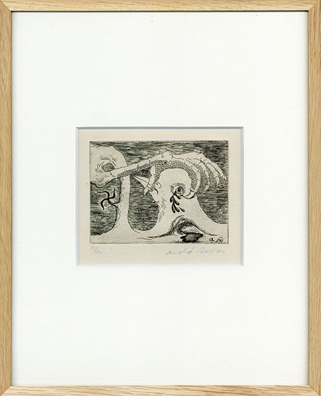 アンドレ・マッソン版画額「L'espagne assissinee from Solidarite」/Andre Masson