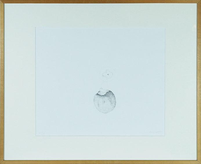 浜口陽三版画額「かき」/Yozo Hamaguchi