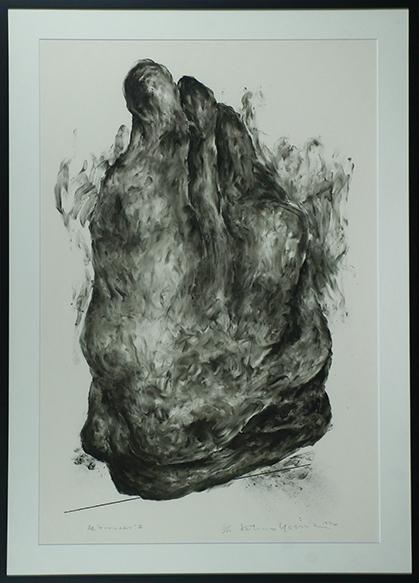 """吉田克朗版画額「触 """"テーブルの上で""""III」/Katsuro Yoshida"""