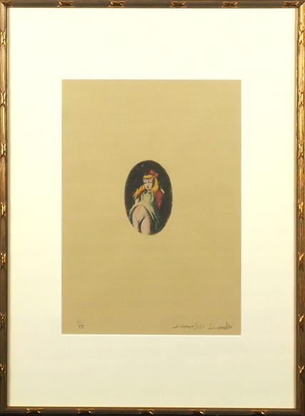 金子国義版画額「マリー」/Kuniyoshi Kaneko