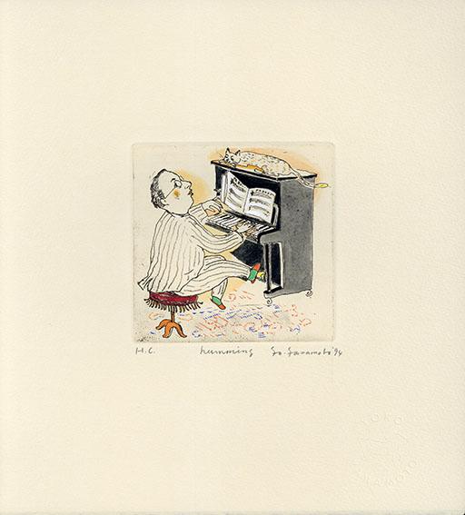 山本容子版画「humming」/Yoko Yamamoto