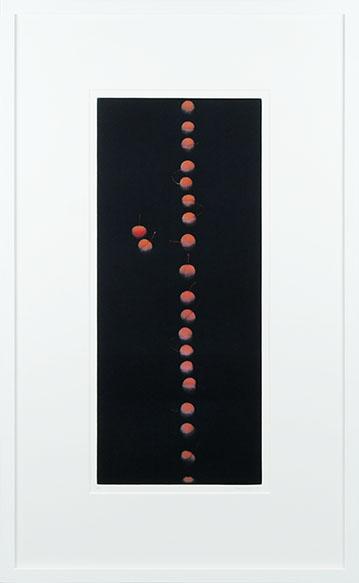 浜口陽三版画額「22のさくらんぼ」/Yozo Hamaguchi
