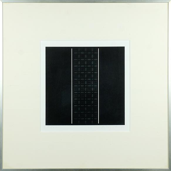 鈴木広行版画額「Lieu Geomethigue 24-B」/Hiroyuki Suzuki