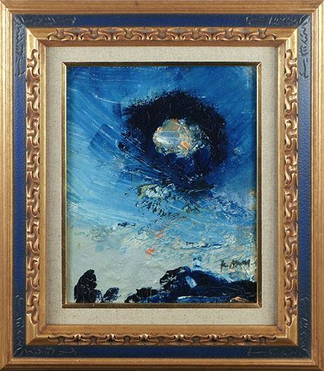 小松明画額「積丹の黒い雲」/Akira Komatsu