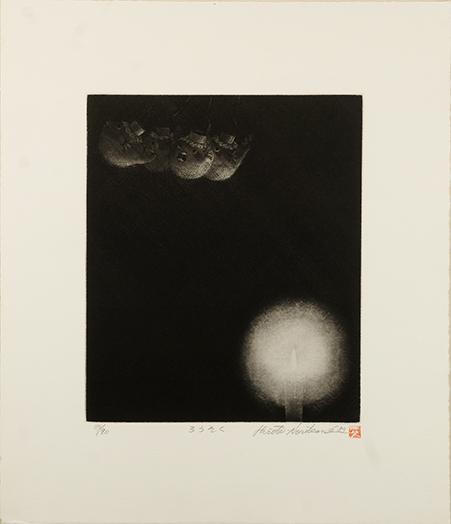 乗兼広人版画「ろうそく」/Hiroto Norikane
