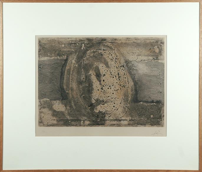 アントニ・タピエス版画額「H」/Antoni Tapies