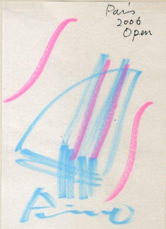 安藤忠雄画額「Paris 2006 Open」/Tadao Ando