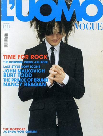ルオモヴォーグ L'Uomo Vogue Dicembre2006 The Horrors/Ruffus/Axl Rose/John Malkovich他/