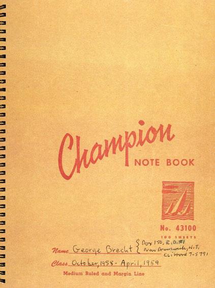 ジョージ・ブレクト George Brecht: Notebook 2/