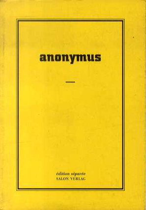Felix Droese: Anonymus/