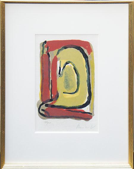 ブラン・ヴァン・ヴェルデ版画額「Laque Rouge」/Bram van Velde