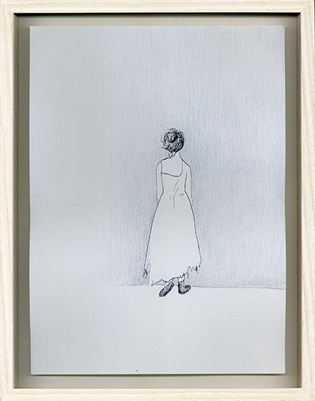 エスター・ハリス画額「Blue 3-5」/Esther Harris