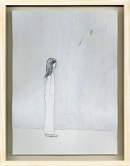 エスター・ハリス画額「Blue 1-5」/Esther Harris