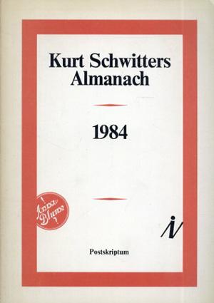 クルト・シュヴィッターズ Kurt Schwitters Almanach 1984/